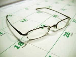 calendar and glasses